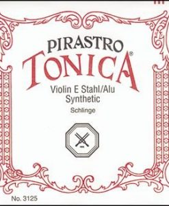 Pirastro Tonica New formula 4/4 Size Violin Strings 4/4 Size Set, Silvery Loop End E